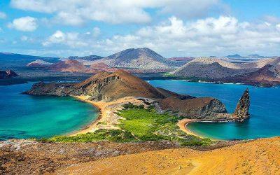isla de galapagos desde arriba