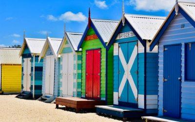 casitas de colores en australia. estudiar en una universidad australiana